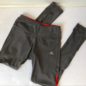 Adidas Gray and Red Leggings